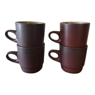 Heath Pottery Ceramics Mugs - Set of 4