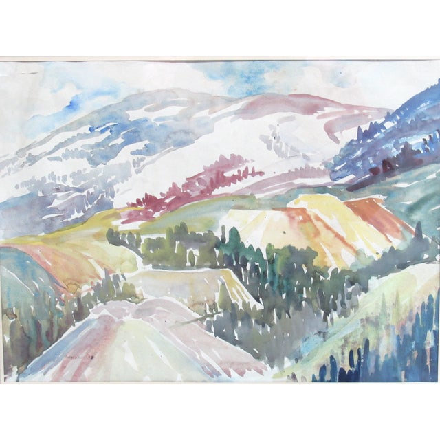 Colorado Mountain Scene by Muriel Sibell Wolle - Image 2 of 5