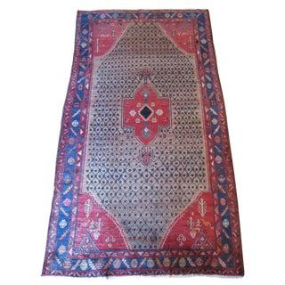 Vintage Persian Tribal Wool Rug - 5′ × 9′3″