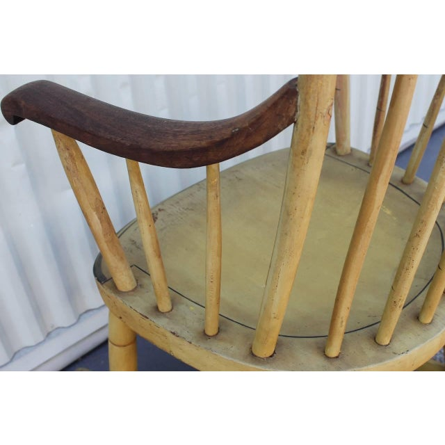 19th Century Fancy Original Painted Rocking Chair from New England - Image 10 of 10