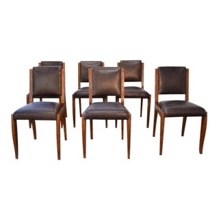 French Art Deco Ruhlmann Style Chairs - Set of 6