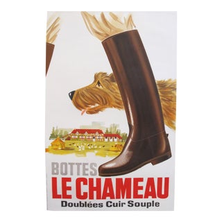 Vintage French Hunting Poster, 1950s, Dog