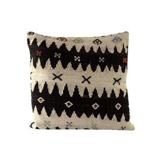 Large Chevron Vintage Kilim Pillow Cover