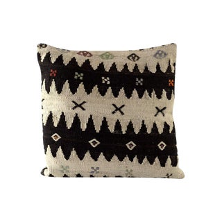 Large Chevron Vintage Kilim Pillow Cover