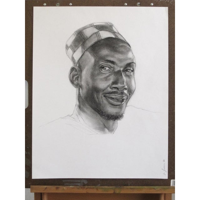 'Terry' Charcoal Study Drawing - Image 2 of 5