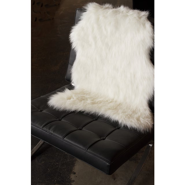 Image of Off White Gordon Faux Sheepskin Throw - 2' X 3'