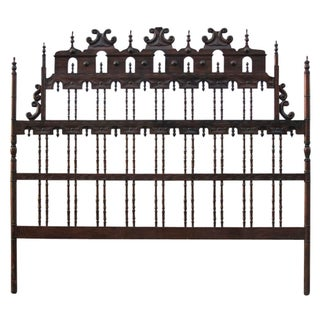 Spanish Colonial Carved King Size Headboard