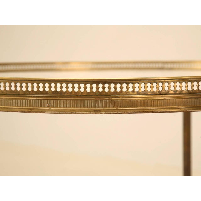 Vintage French Marble & Brass Cocktail Table - Image 3 of 10