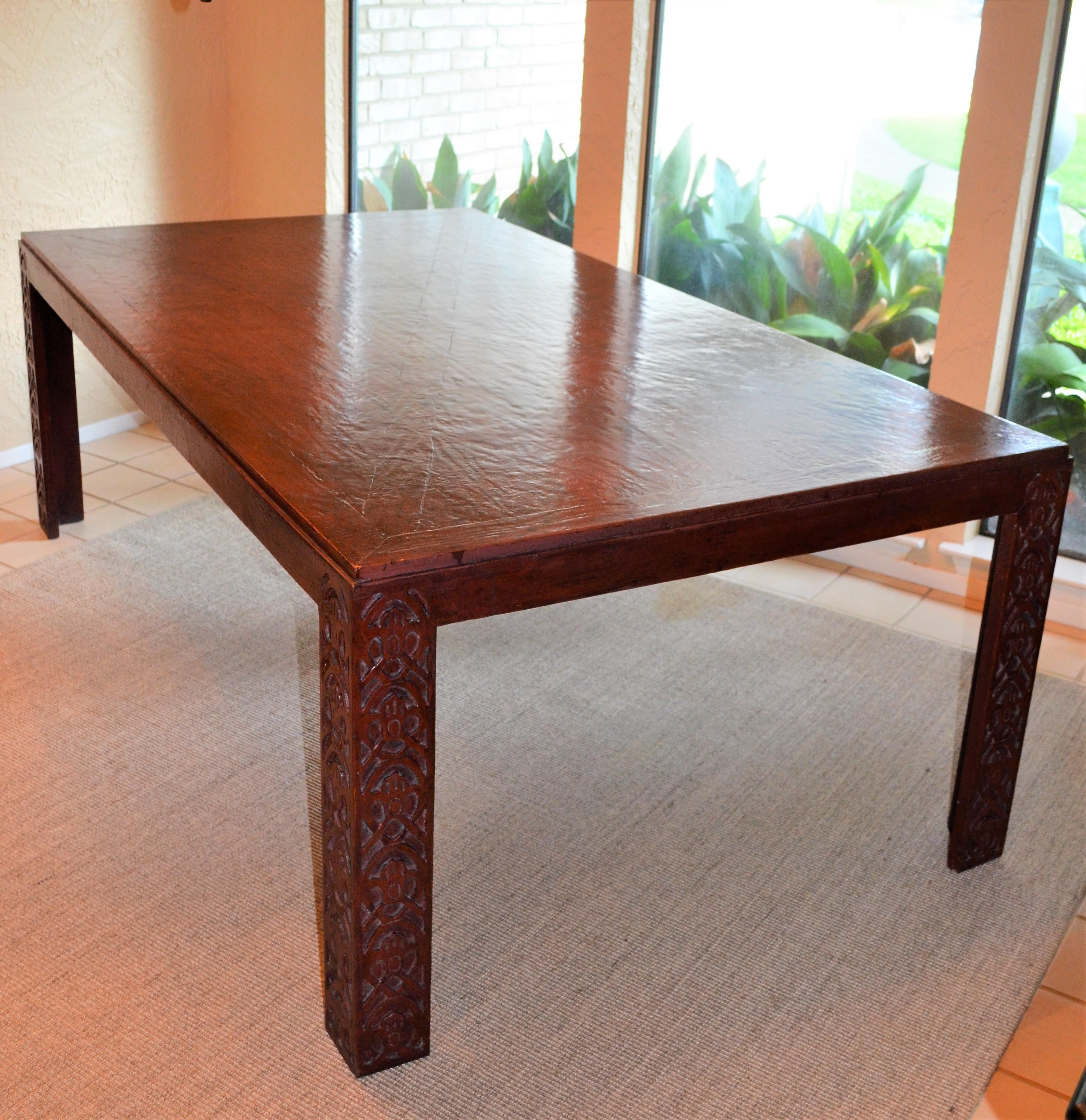 E. J. Victor Chinoiserie Parson Dining Table   Image 3 Of 11