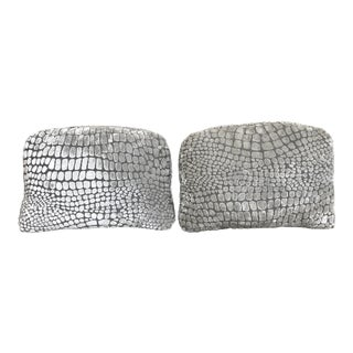 Pair of Velvert Croco Decorative Pillows by Designers Guild