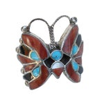 Image of Zuni Native American Style Butterfly Ring II