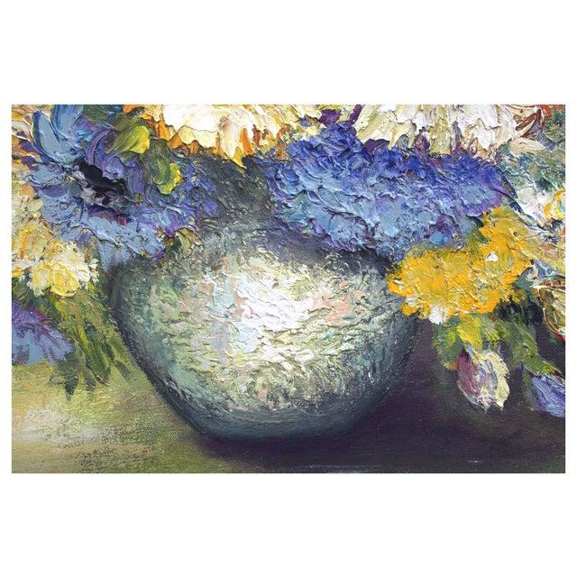 Chrysanthemum Summer Boquet Painting - Image 3 of 3