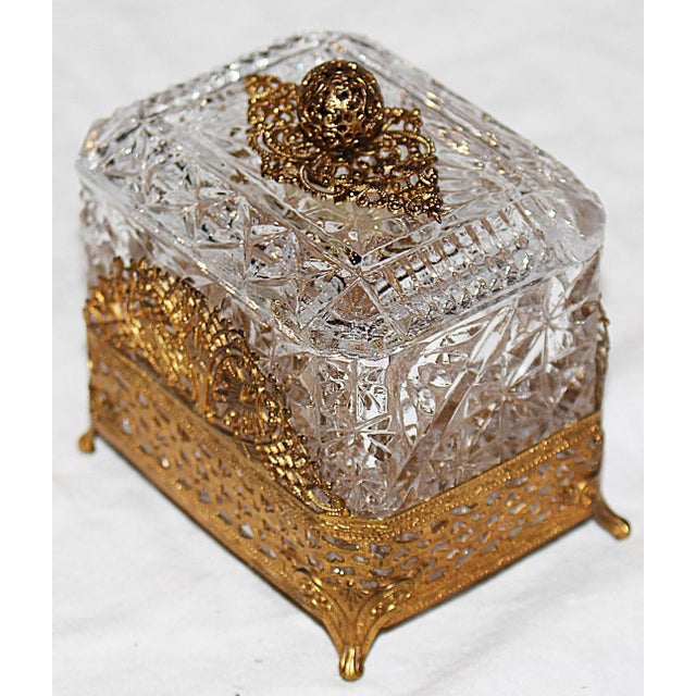 Hollywood Regency Glass Vanity Box - Image 4 of 7
