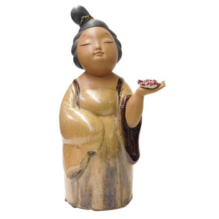 Chinese Ceramic Tong Lady Figure