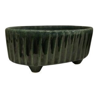 Midcentury Hull USA F39 Green Ceramic Planter