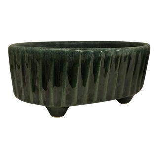 Midcentury Hull USA F39 Green Ceramic Planter