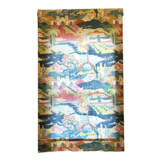 Multicolored Mexican Scene Pattern Roman Shade