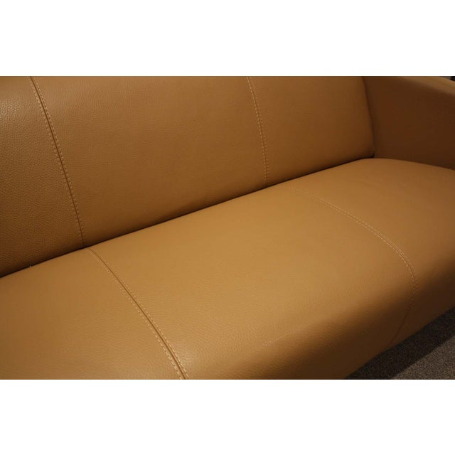 Image of Nicoletti Calia Camel Leather Sofa
