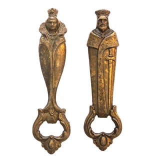 Italian Brass King & Queen Bottle Openers