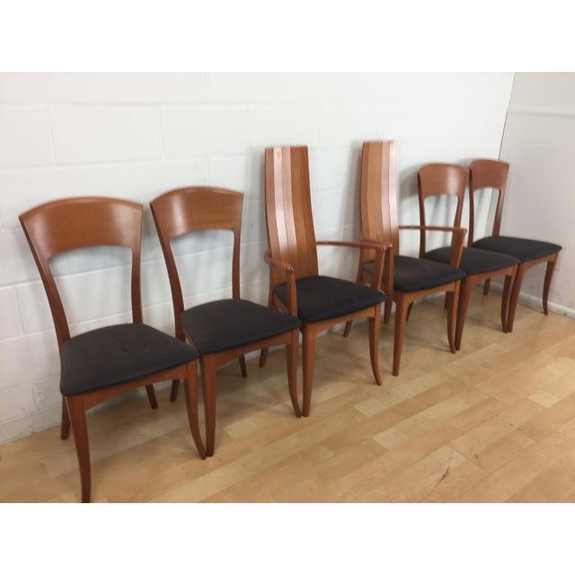 A. Sibau Italian Mid-Century Modern Dining Chairs- Set of 6 - Image 5 of 11