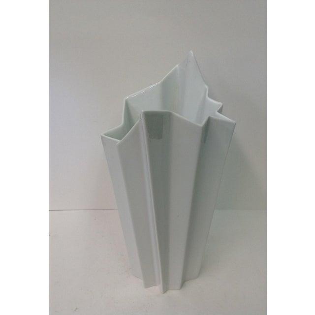 Hutschenreuther White Op Art Vase - Image 4 of 7