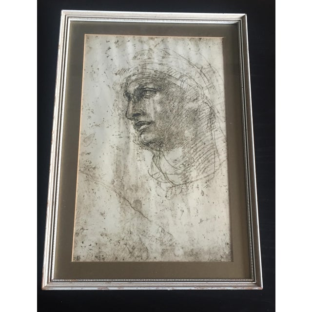 """Michelangelo """"Head of a Youth"""" British Museum Fine Art Print - Image 2 of 7"""
