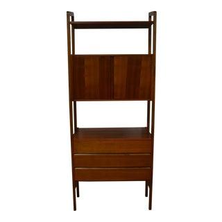 Standing Walnut Bookcase