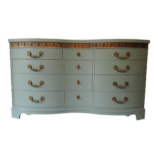 French Provence Blue Serpentine Dresser