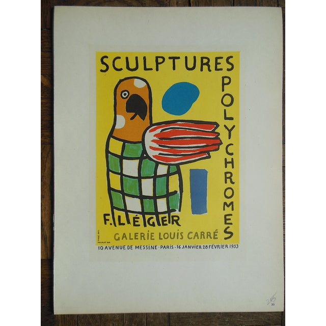 1959 Leger Mid 20th C Modern Abstract Lithograph - Image 2 of 3