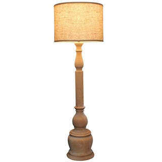 Lucerne Turned Wood Floor Lamp