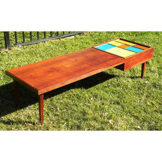 Mid-Century Coffee Table W/ Built-In Fondue Stove - Image 5 of 8