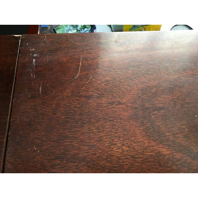 Antique Mahogany Drop Leaf Buffet Serving Cart - Image 9 of 10