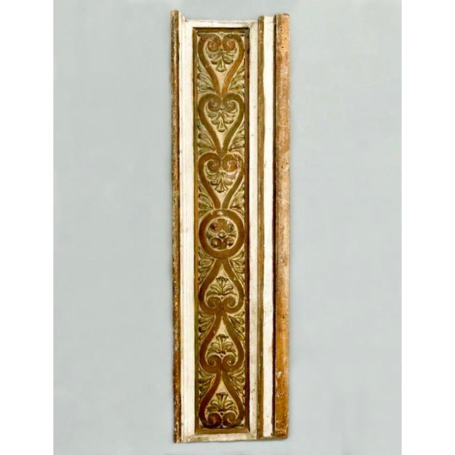 French Gilded Hand Carved Architectural Element Wall Panel c.1900 - Image 2 of 5