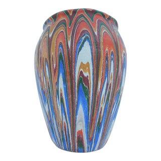 Vintage Colorful Handmade Pottery Vase