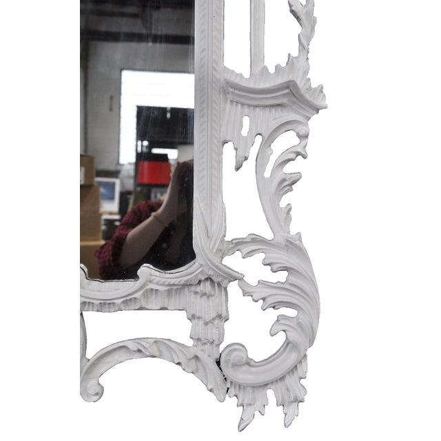 White Chippendale-Style Mirror - Image 3 of 4