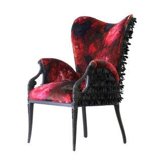 """Upholstered velvet """"Rosella"""" armchair"""