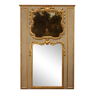 Louis XVI Epoque Trumeau Mirror