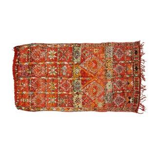 Vintage Moroccan Beni Ourain Rug- 5′7″ × 10′11″