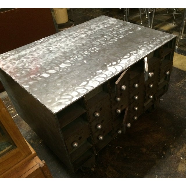Image of Industrial Coffee Table Loft Style on Wheels