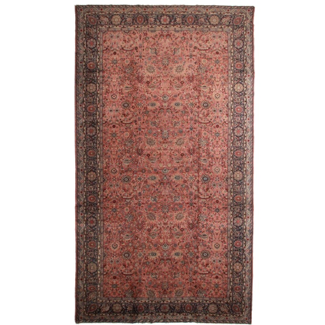 RugsinDallas Antique Turkish Sparta Hand Knotted Wool Rug- 11′ × 19′9″ - Image 1 of 2