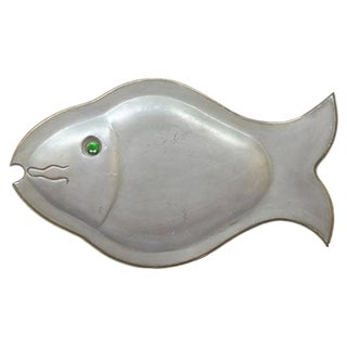 Chinese Metal Fish Catchall