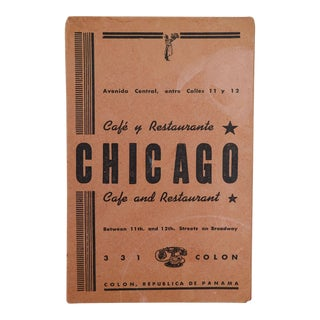 1930's Republic of Panama 'Chicago Café' Menu