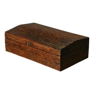 Antique Anglo-Indian Dark Ribbed Wood Writing Desk Box