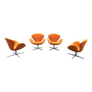 Arne Jacobsen Fritz Hansen Swan Chairs - Set of 4