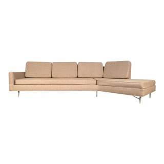 Mid-Century Modern Wing Sofa In The Style of Wormley/Dunbar
