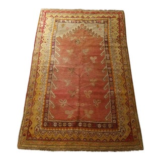 Antique Anatolian Turkish Cal Rug - 3′4″ × 5′1″