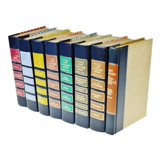 Vintage 1980's Reader's Digest Condensed Books with Decorative Colored Hardcovers - Group of 8