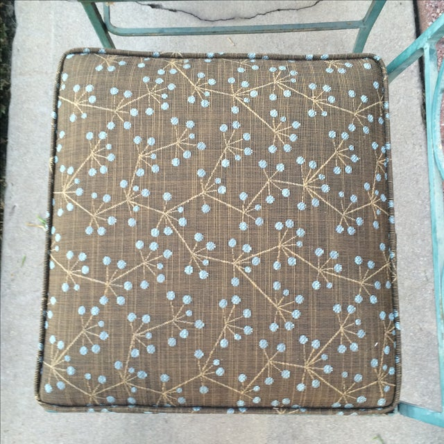 Green Mid-Century Metal Patio Set - Image 9 of 10