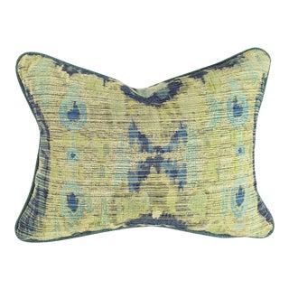 Teal & Ikat Lumbar Pillow