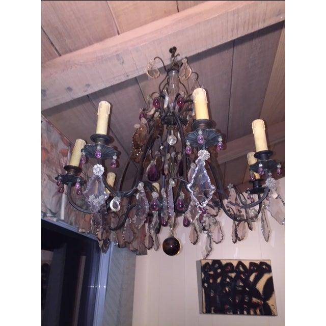 Vintage 8-Light Crystal Chandelier - Image 3 of 3
